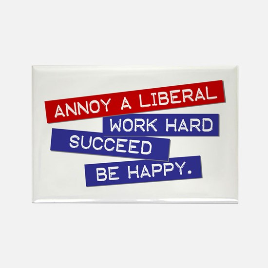 """""""Annoy a Liberal"""" Rectangle Magnet"""