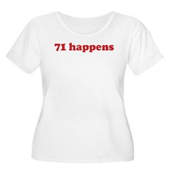 71 happens (red) Women's Plus Size Scoop Neck T-Sh