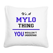 Cute Mylo Square Canvas Pillow