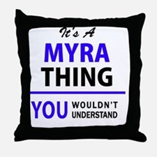 Cute Myra Throw Pillow