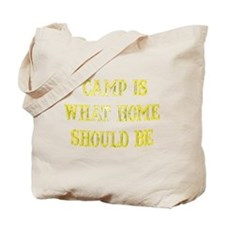 Camp is what home should be  Tote Bag