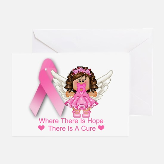 BREAST CANCER (HOPE) Greeting Cards (Pk of 10)