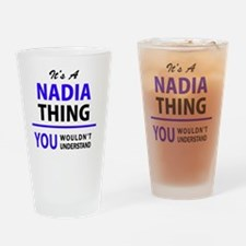 Cute Nadia Drinking Glass