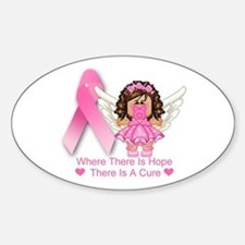 BREAST CANCER (HOPE) Oval Decal