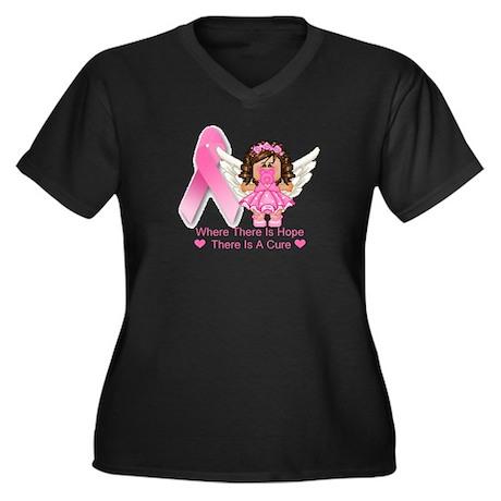 BREAST CANCER (HOPE) Women's Plus Size V-Neck Dark