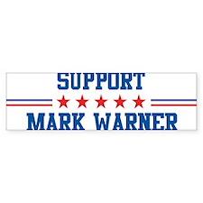 Support MARK WARNER Bumper Bumper Sticker