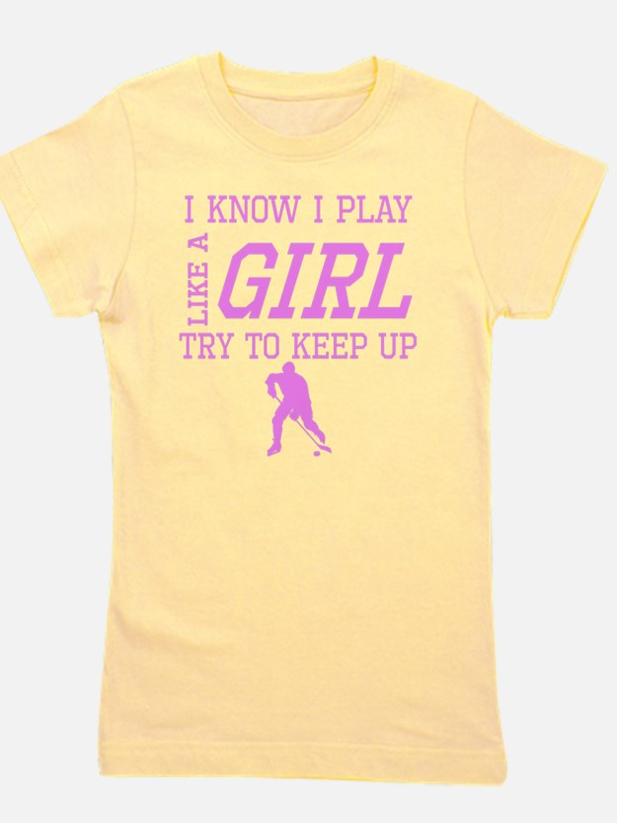 Hockey Like A Girl Girl's Tee