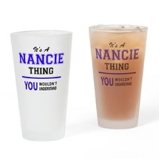 Unique Nancy Drinking Glass