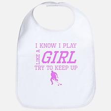 Field Hockey Like A Girl Bib