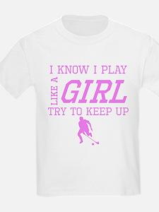 Field Hockey Like A Girl T-Shirt