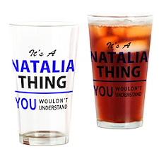 Cute Natalia Drinking Glass