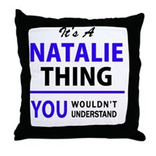 Unique Natalie Throw Pillow