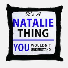 Funny Natalie Throw Pillow