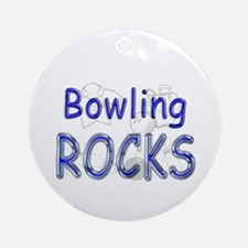 Bowling Rocks Ornament (Round)