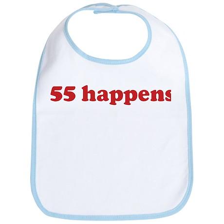 55 happens (red) Bib