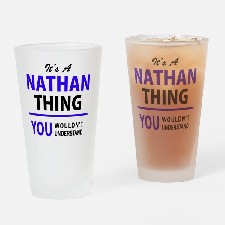 Cute Nathan Drinking Glass