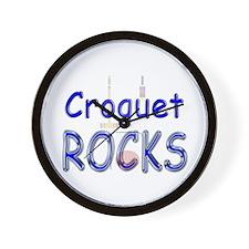Croquet Rocks Wall Clock