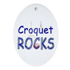 Croquet Rocks Oval Ornament