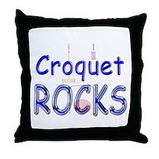 Croquet Rocks Throw Pillow