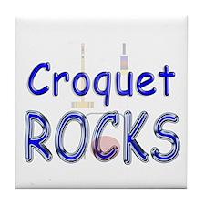 Croquet Rocks Tile Coaster
