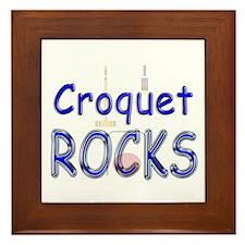Croquet Rocks Framed Tile