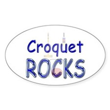 Croquet Rocks Oval Decal
