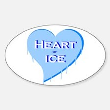 Heart of Ice Oval Decal
