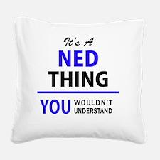 Unique Ned Square Canvas Pillow