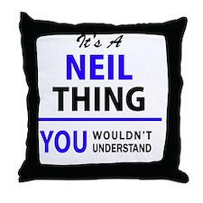 Funny Neil Throw Pillow