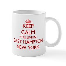 Keep calm you live in East Hampton New York Mugs