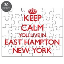 Keep calm you live in East Hampton New York Puzzle