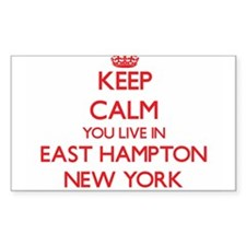 Keep calm you live in East Hampton New Yor Decal