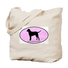 Curly Coated Retriever (oval- Tote Bag