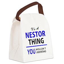 Cute Nestor Canvas Lunch Bag