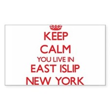 Keep calm you live in East Islip New York Decal