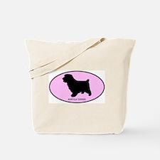 Norfolk Terrier (oval-pink) Tote Bag