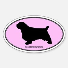 Clumber Spaniel (oval-pink) Oval Decal