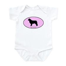 Newfoundland (oval-pink) Infant Bodysuit