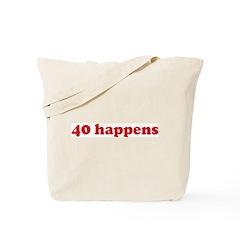 40 happens (red) Tote Bag
