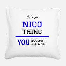Unique Nico Square Canvas Pillow