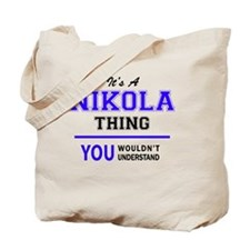 Cute Nikola Tote Bag