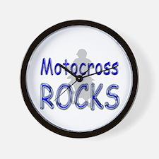 Motocross Rocks Wall Clock