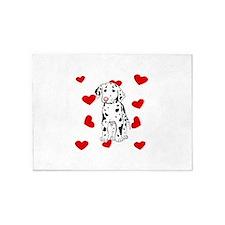 Dalmatian Love 5'x7'Area Rug