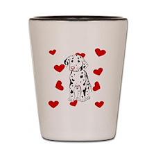 Dalmatian Love Shot Glass