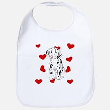 Dalmatian Love Bib