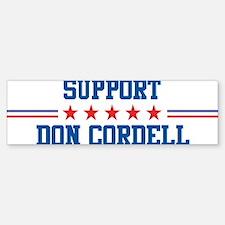 Support DON CORDELL Bumper Bumper Bumper Sticker