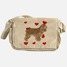 Cocker Spaniel Love Messenger Bag
