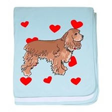 Cocker Spaniel Love baby blanket