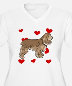 Cocker Spaniel Love Plus Size T-Shirt