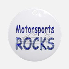 Motorsports Rocks Ornament (Round)